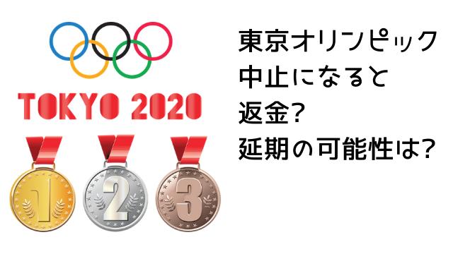 東京オリンピックが中止になると返金?延期の可能性は?